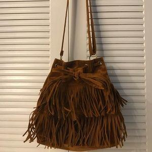 Handbags - Faux suede fringe bag