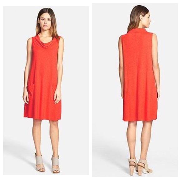 32fce5918721 Eileen Fisher Dresses   Cowl Neck Aline Dress Geranium   Poshmark