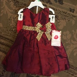 Girls size 18mth dress red nwt