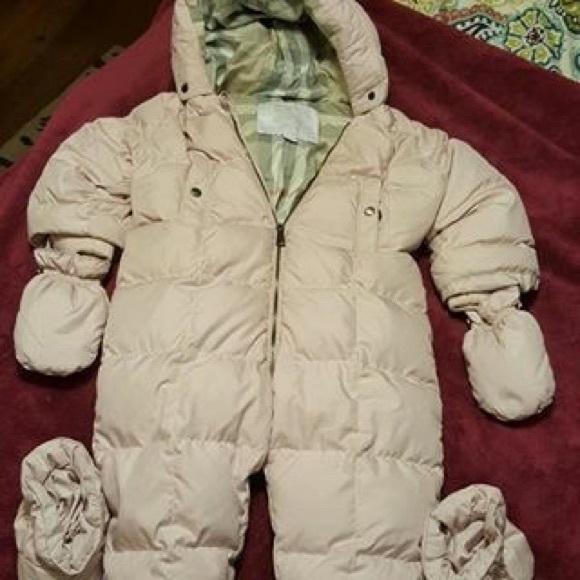 5090530c3 Burberry Jackets & Coats | Pink Baby Snowsuit Size 18 Months | Poshmark