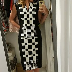 Muse Peplum Checkered Dress - Skirt/Shirt set