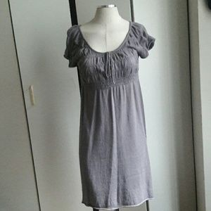 Max Studio Knit dress empire waist gray size small