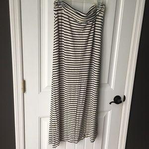 J Crew size L maxi striped maxi skirt