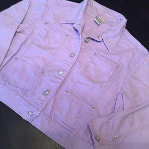 Vintage purple violet jean jacket L/XL $15