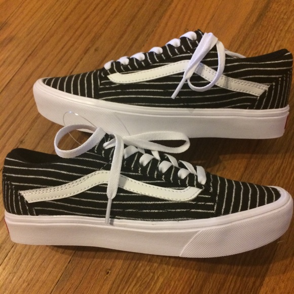 d235773cbb5 NEW in Box! Vans Old Skool Lite Stripes Black