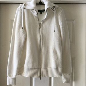 Ralph Lauren White Sweater, L