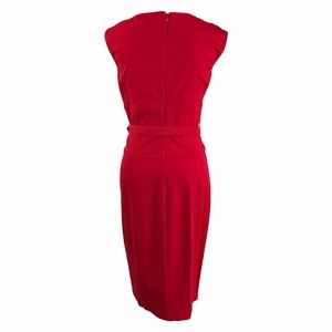 Cache Dresses - Cache Sexy Red Midi Dress with Cut in Chest