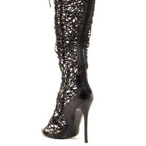 Shoes - WORN ONCE! Over the Knee Strappy Boot
