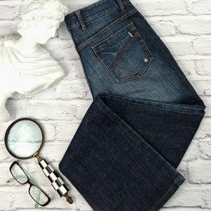 Elie Tahari dark wash straight leg jeans