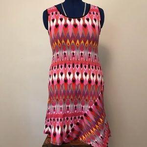 Ikat Patterned Day Dress