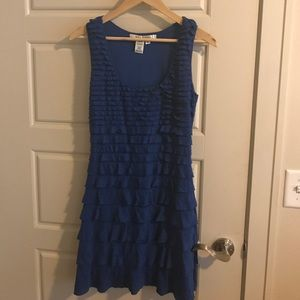 Max Studio ruffle tiered dress size medium
