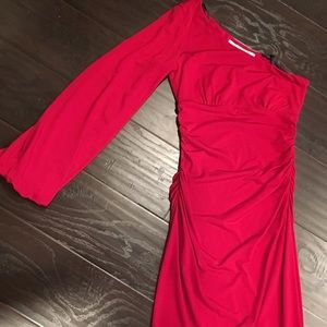Maggy London 1 sleeve Red dress