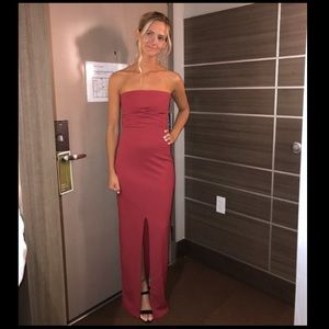 Lulu s Dresses - Lulu s - Own The Night Red Strapless Maxi Dress 4709dd470