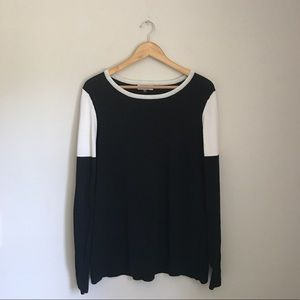 Calvin Klein B&W Colorblock Crewneck Sweater