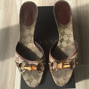 Gucci Shoes - Gucci Sand Tess S. Cuoio Beige and Brown Slides
