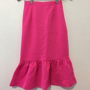 Dresses & Skirts - Pink Midi Skirt-#008