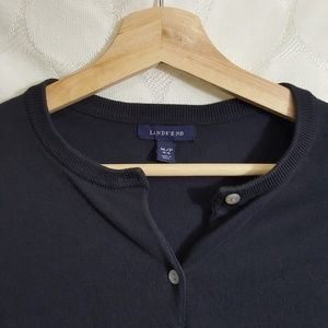 Lands' End Sweaters - Lands' End Navy Cardigan