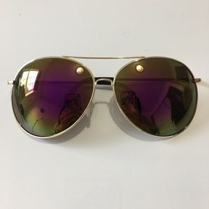 Multi Colored Aviator Sunglasses