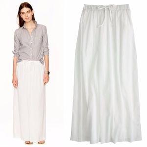J.CREW White Gauze Maxi Skirt