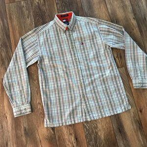 Tommy Hilfiger Boys Plaid Shirt Button Front Shirt