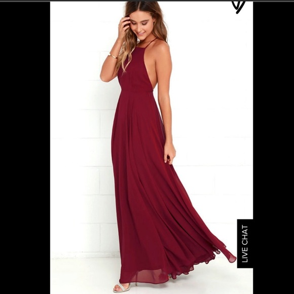976fee6d434 Lulu's Dresses & Skirts - Lulus mythical kind of love wine red maxi ...