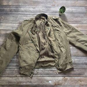 Jackets & Blazers - Green Moto jacket