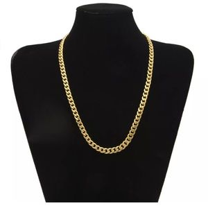 """New Cuban Link Chain Necklace 20"""" Yellow Gold Mens"""