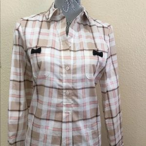 Kate Spade plaid shirt bow