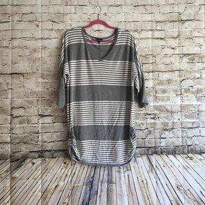 Torrid stripe Grey sweater top