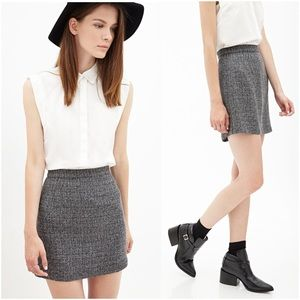 🌟SALE🌟 Adorable Gray Speckled Tweed Mini Skirt