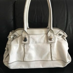 Banana Republic Gorgeous White Leather Handbag