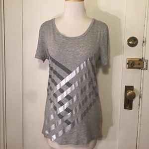 J. Crew Collectors T gray silver graphic T-shirt