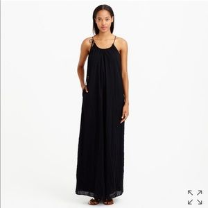 J. Crew Shoulder Tie Maxi Dress Boho Style Sz XS