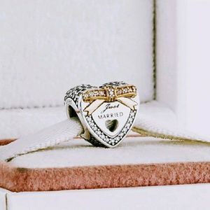 Jewelry - Pandora Wedding Day Heart Charm