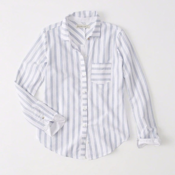 99902efe Abercrombie & Fitch Tops - Abercrombie & Fitch | Striped Oxford Shirt