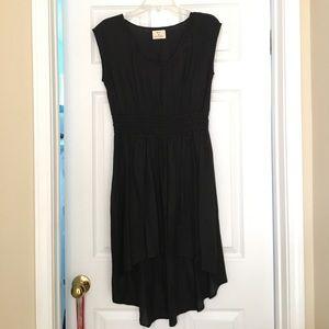 Black Pins and Needles Hi-Lo Dress