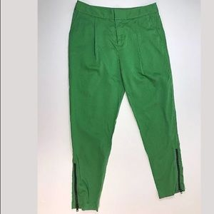 Kate Spade Saturday ankle zip pants green size 4