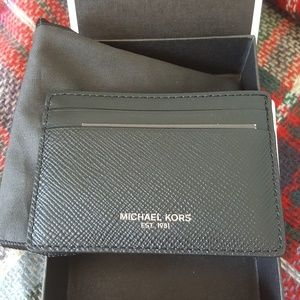 697e4ab503c8 Michael Kors Accessories - Mens MK wallet with card holder and money clip