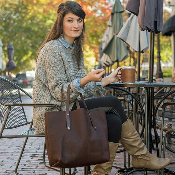 7fdbcc9b1f0c GFG Handbags - Go Forth Goods 100% Leather Large Tote bag