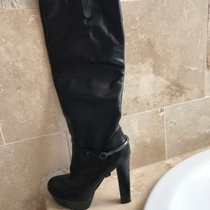 High heel knee boots