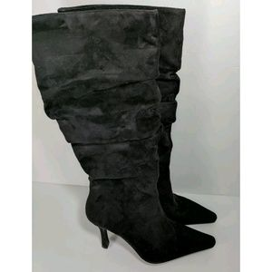 Newport News Black Heeled Boots Size 8.5