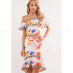 c55676b228b ... Tropical print skirt top set ...
