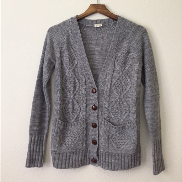 63% off Black Poppy Sweaters - Cable Knit Boyfriend Cardigan from ...