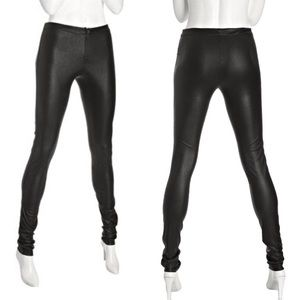 Alice + Olivia Faux Leather Zip Front Leggings