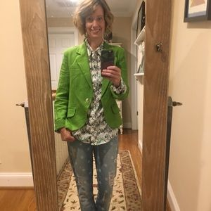 Green linen blazer by Gibson, size small