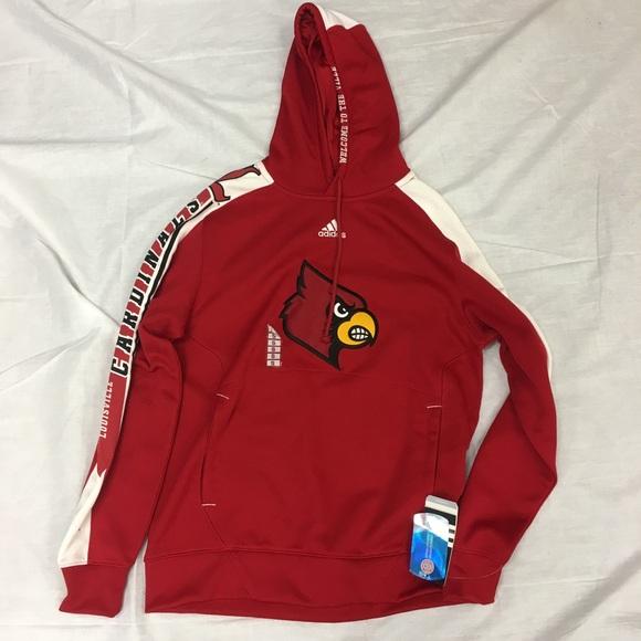 Louisville Cardinals adidas Hoodie Sweatshirt NWT