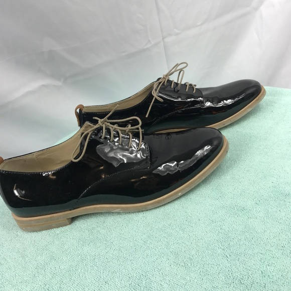 Attilio Giusti Leombruni Patent Leather Round-Toe Oxfords free shipping sale limited edition for sale QsXSd55hxX