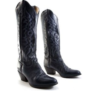 Kenny Rogers women's navy cowboy boots  vintage