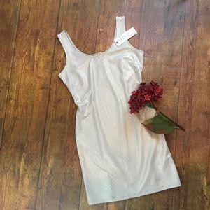NWT Nordstrom Olive & Oak shimmer taupe tank dress