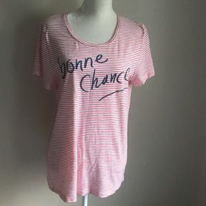 J. Crew Factory Stripe Frenchie Tee.  Size L